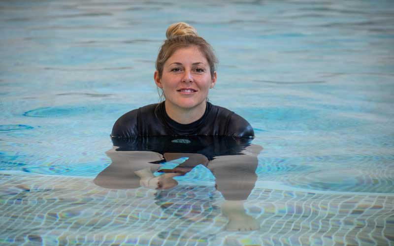 Hayley, swimming tutor