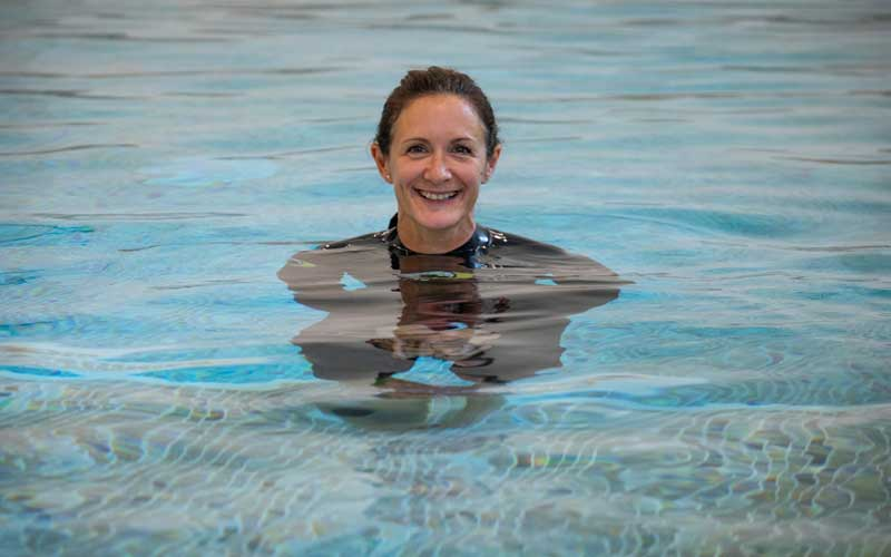 Jo Borthwick swimming teacher